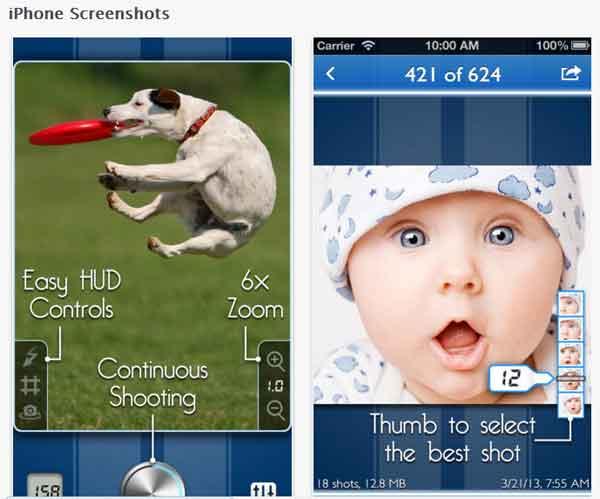 ¿Fotos a los perros? SnappyCam Pro permite disparar en ráfaga con el iPhone.