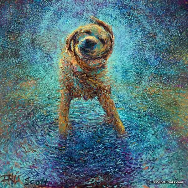 Obra de iris Scott, perro labrador.