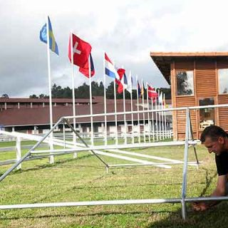 @feiragalicia. 41 perros de 13 países competirán desde mañana en la Feira Internacional de Galicia con motivo del Campeonato del Mundo Rottweiler IFR-WM 2013.