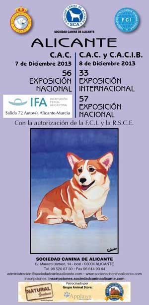 Próximo fin de semana: 33 Exposición Canina Internacional de Alicante, y 56-57 Exposición Canina Nacional de Alicante.