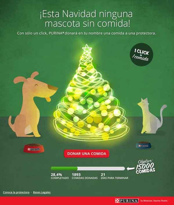 Esta Navidad ninguna mascota sin comida, acción de Purina a beneficio de la Asociación las Nieves.