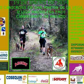 Campeonato de Madrid de Canicross y Bikejoring. II Canicross de San Martín de la Vega, próximo 19 de enero.