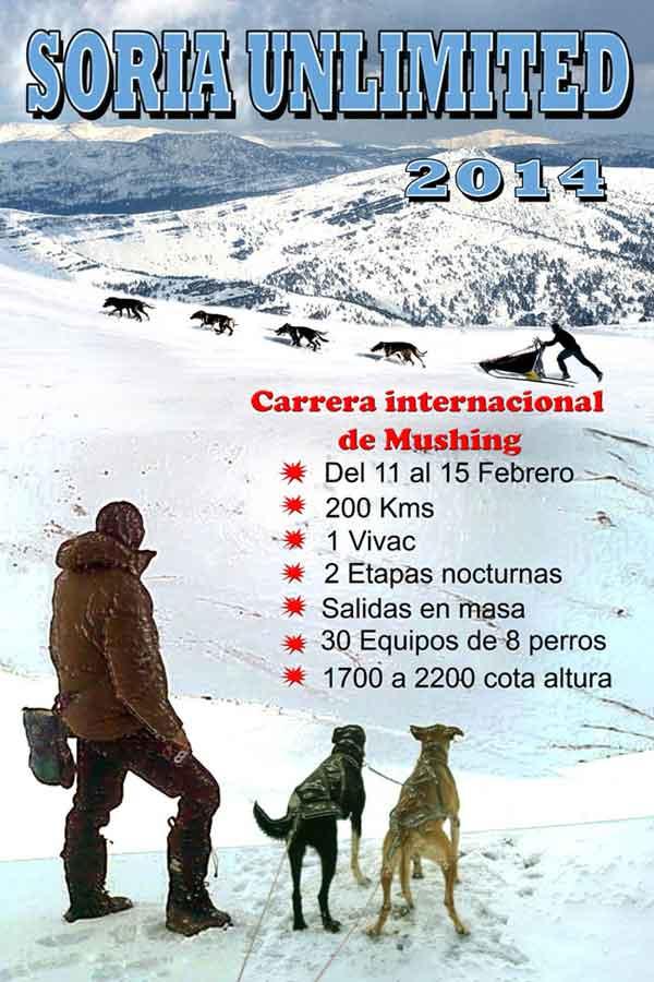 Soria Ulimited 2014. La reunión del mushing en Soria.