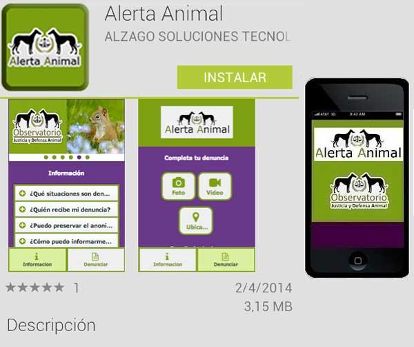 Alerta Animal es una revolucionaria app para denunciar los casos de maltrato animal.