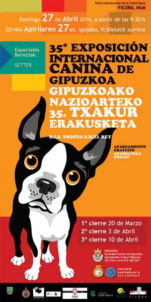 35 Exposición Canina Internacional de Guipúzcoa en FICOBA Irún.
