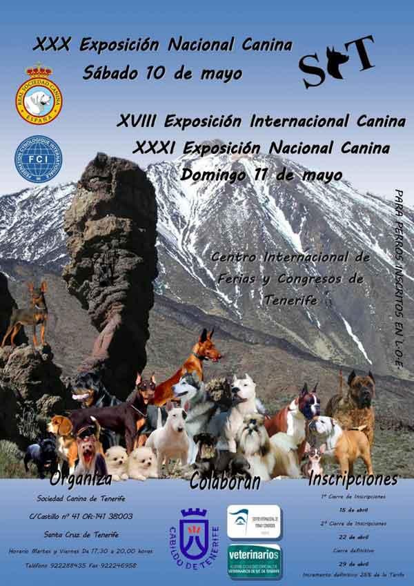 XXX - XXXI Exposición Nacional Canina de Tenerife y XVIII Exposición Internacional