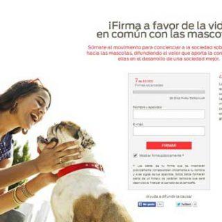 #juntoslavidaesmejor. Objetivo: 50.000 firmas para concienciar a la sociedad sobre el respeto y la vida en común con las mascotas.