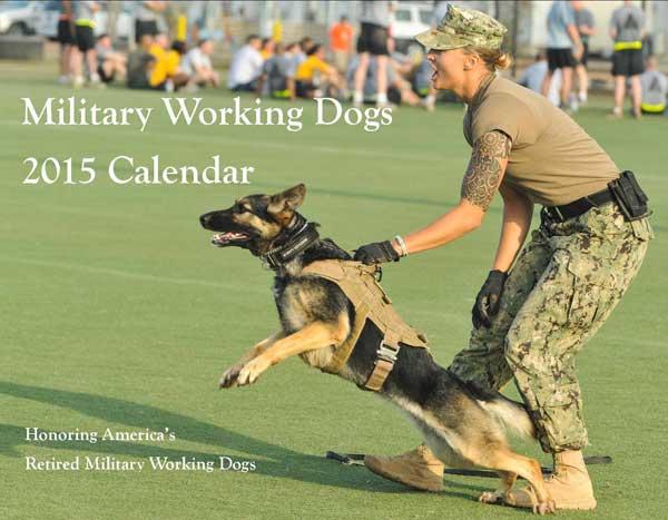 @MWDTSA. Calendario de perros militares, para ayudar a los perros militares retirados, jubilados y en adopción.