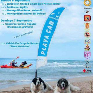 Jornadas Caninas en Playa Can (Gandía), próximos 6 y 7 de septiembre.