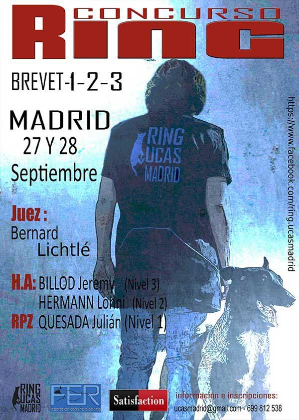 Concurso de Ring Francés, en Madrid: 27 y 28 de septiembre, con Ring UCAS Madrid.