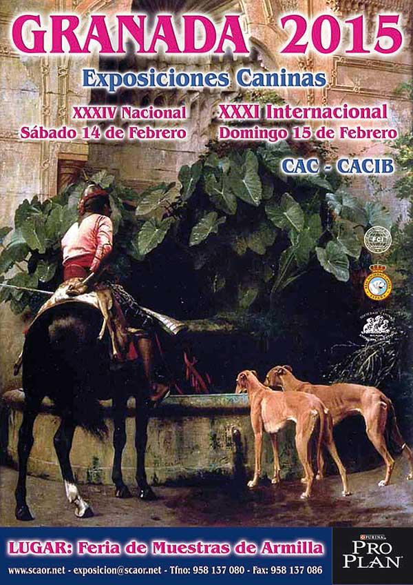 Próximo fin de semana Expos caninas de Granada 2015.