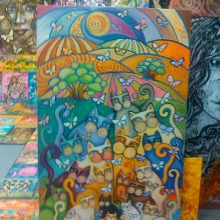 Mascoteros Solidarios subasta el cuadro Arco del Iris