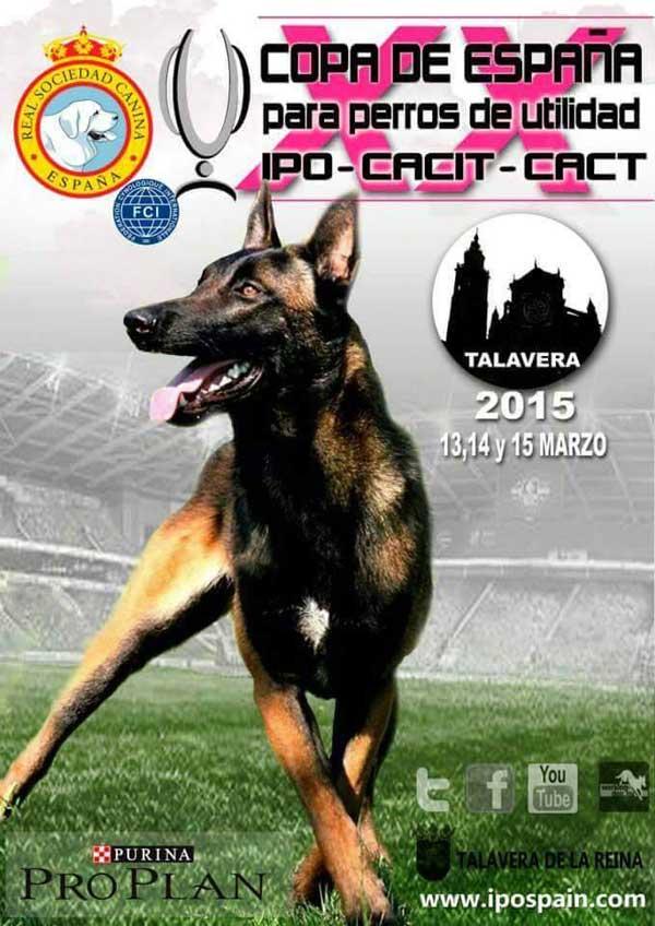 XX Copa de España de Perros de Utilidad IPO, días 13, 4 y 15 de marzo próximos.