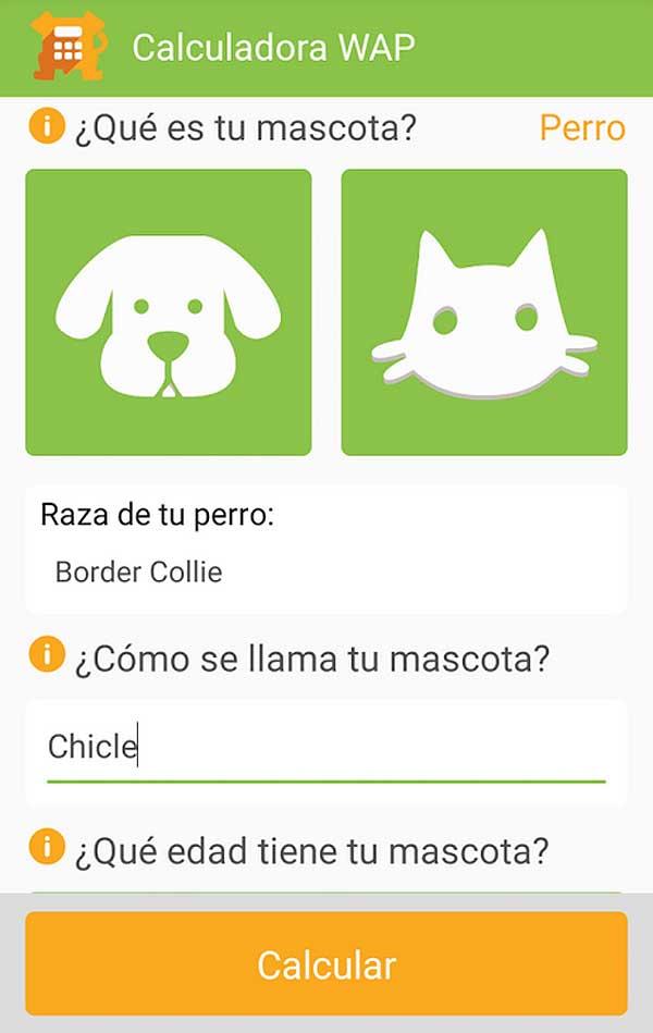¿Cuál es la edad de tu perro o gato? (Nueva app)