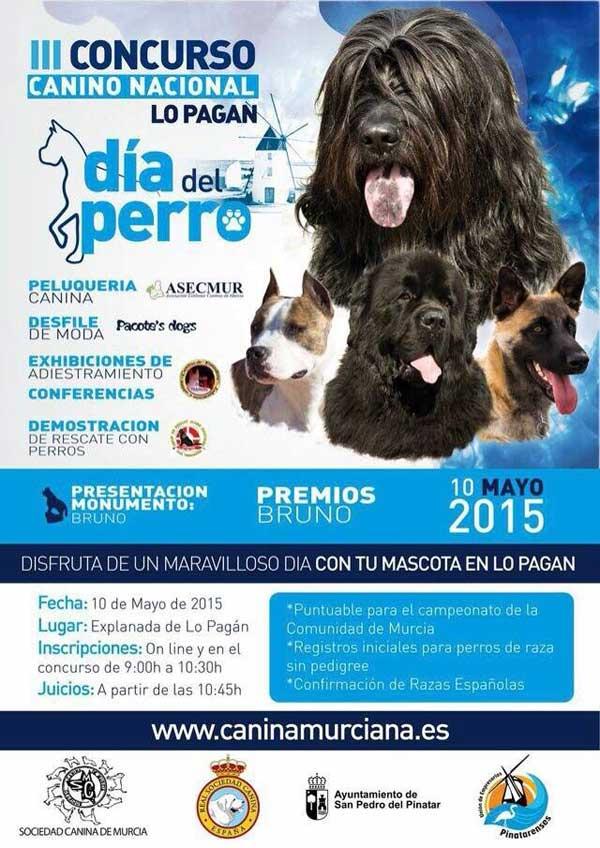 III Concurso Nacional Canino de Lopagán es puntuable para el Campeonato de la Comunidad de Murcia, y se celebrará el próximo 10 de mayo a partir de las 10:30 horas.