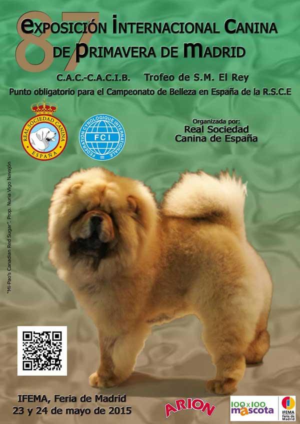 """La 87 Exposición Canina Internacional de Primavera (conocida como """"Internacional de Primavera), se celebrará los 23 y 24 de mayo próximos en IFEMA."""