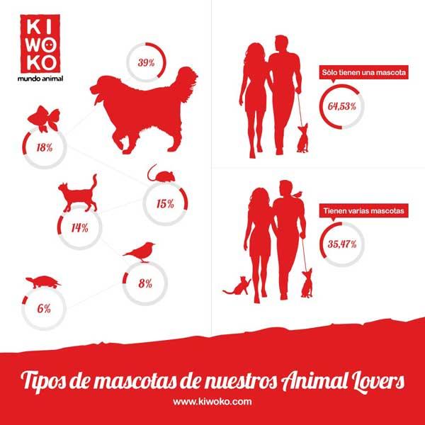 1 de cada 3 familias en España tienen más de un animal en casa, pero el perro es el favorito
