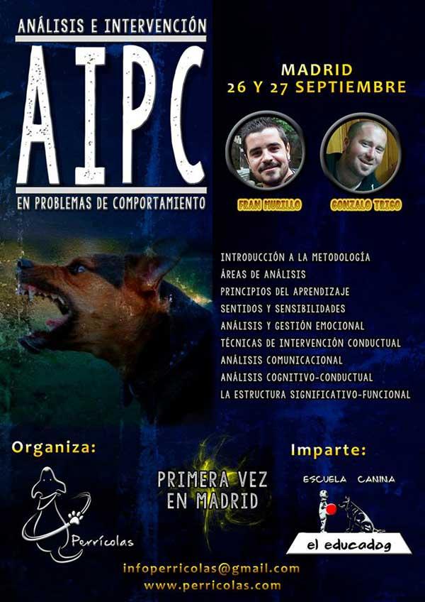 Análisis e Intervención en Problemas de Comportamiento, seminario en Madrid.