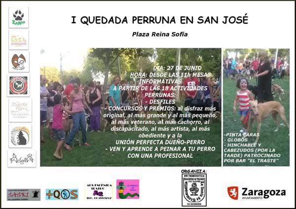 I Quedada Perruna en San José, Zaragoza. Próximo 27 de junio.