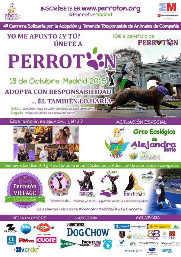 """43 asociaciones de protección animal solicitan a los organizadores de """"Perrotón Madrid 2015"""" la donación INTEGRA de lo obtenido en el evento a una asociación independiente de la organización."""