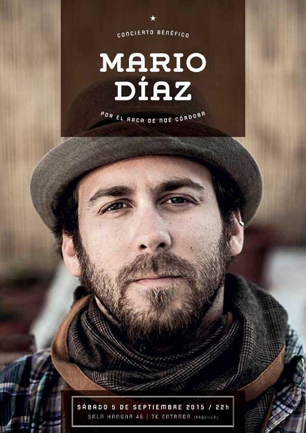 Mario Díaz dará un concierto para el arca de Noé de Córdoba