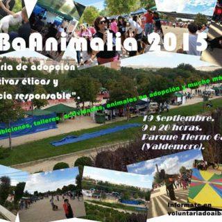 """aiBaAnimalia 2015: """"III Feria de adopción, iniciativas éticas y tenencia responsable"""". En Parque Tierno Galvaá, Camino salinas, 28341 Valdemoro."""