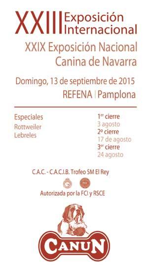 Expo Canina Navarra 20015.