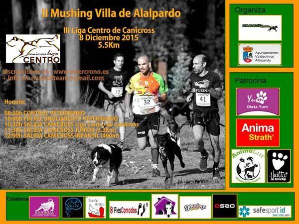 La cita para el II Mushing Villa de Alalpardo es el próximo 8 de diciembre a las 10:30 horas en el Polideportivo Juan Antonio Corbalán de Alalpardo.
