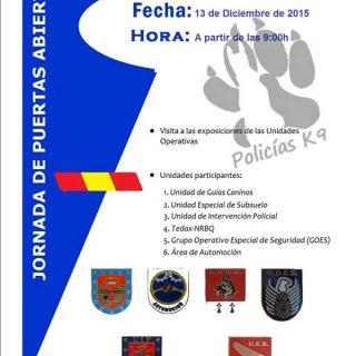 Jornada de Puertas Abiertas Unidades Caninas: 13 de diciembre en Barcelona.