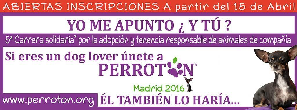 Perrotón 2016, Su objetivo es promover y fomentar la adopción y tenencia responsable de animales de compañía en la sociedad español.