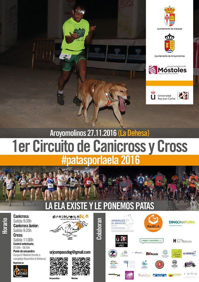 Canicross y Cross: 27 De Noviembre en Arroyomolinos
