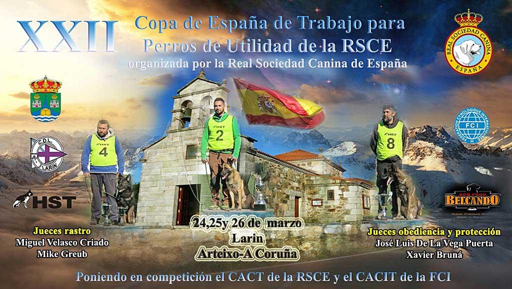 XXII Copa de España de Trabajo para Perros de Utilidad.
