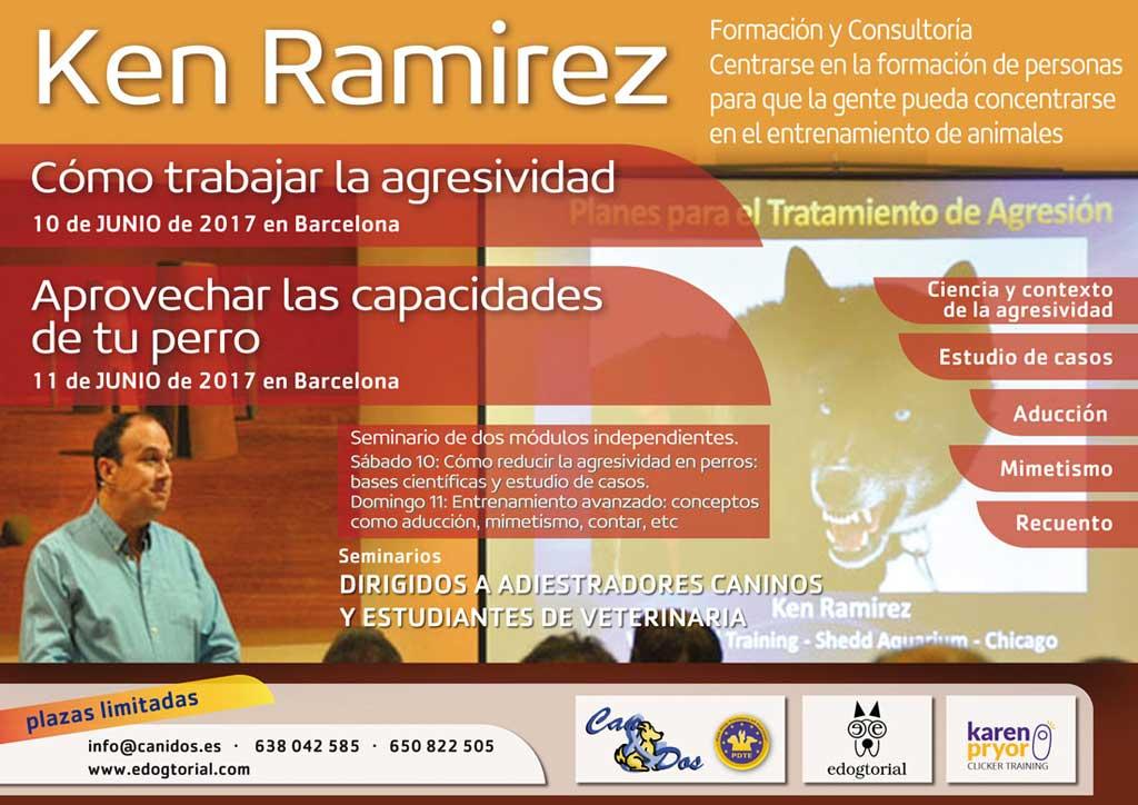 """El seminario de Ken Ramirez """"agresividad canina"""" y """"mejorar las capacidades del perro"""" se celebrará los próximos 10 y 11 de junio en Barcelona"""