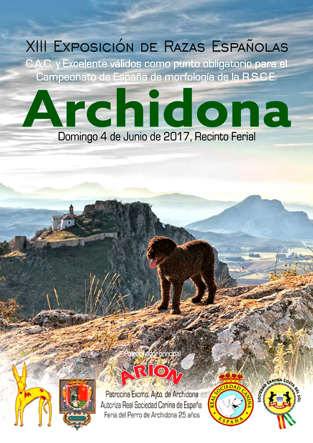 Archidona (Málaga) reúne este domingo a más de 350 perros en la XIII Exposición de Razas Españolas.