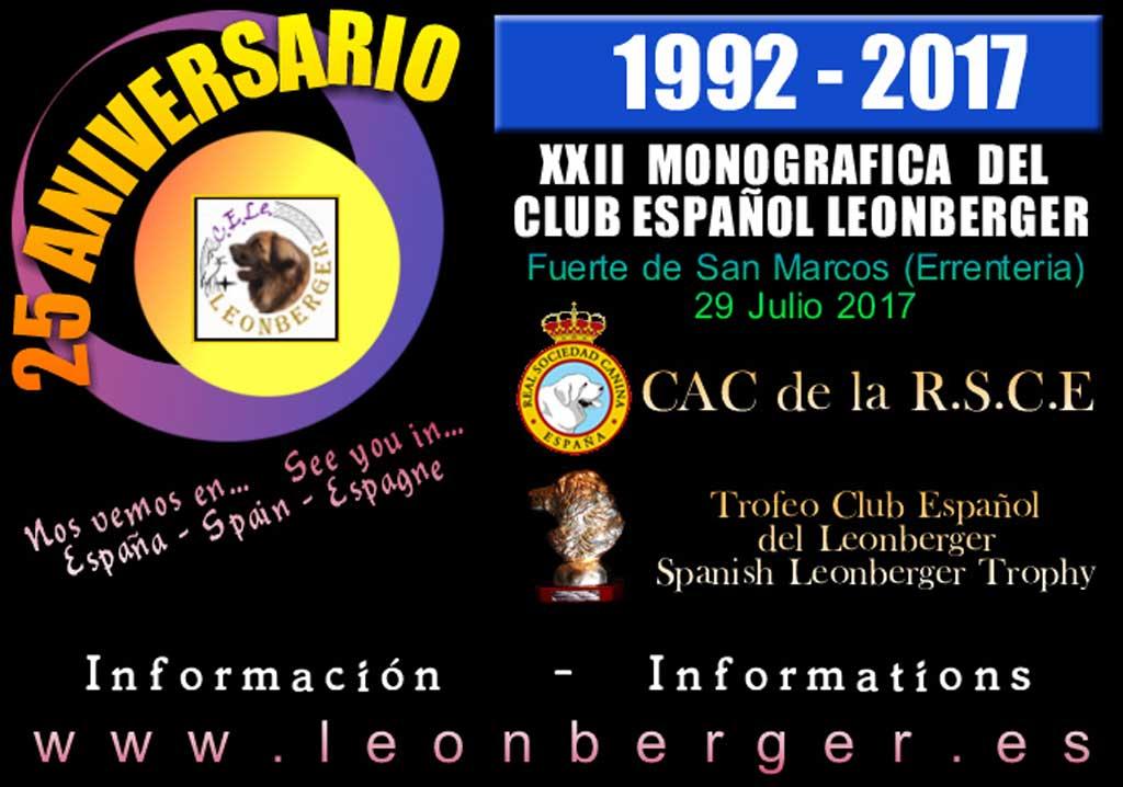 Más de 60 perros se darán cita este sábado en la XXII Monográfica del Club Español Leonberger en Errentería (Guipúzcoa).