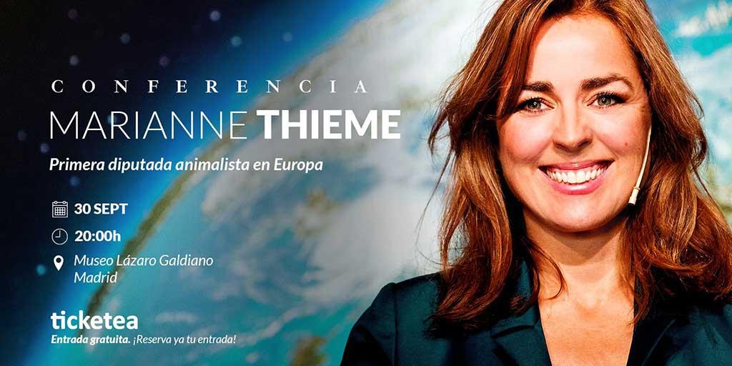 Marianne Thieme, primera diputada animalista del mundo, acude a España para hablar sobre abandono de animales.