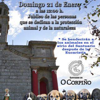 Jubileo de las personas que se dedican a la protección animal y de la naturaleza en el Santuario de O Corpiño.