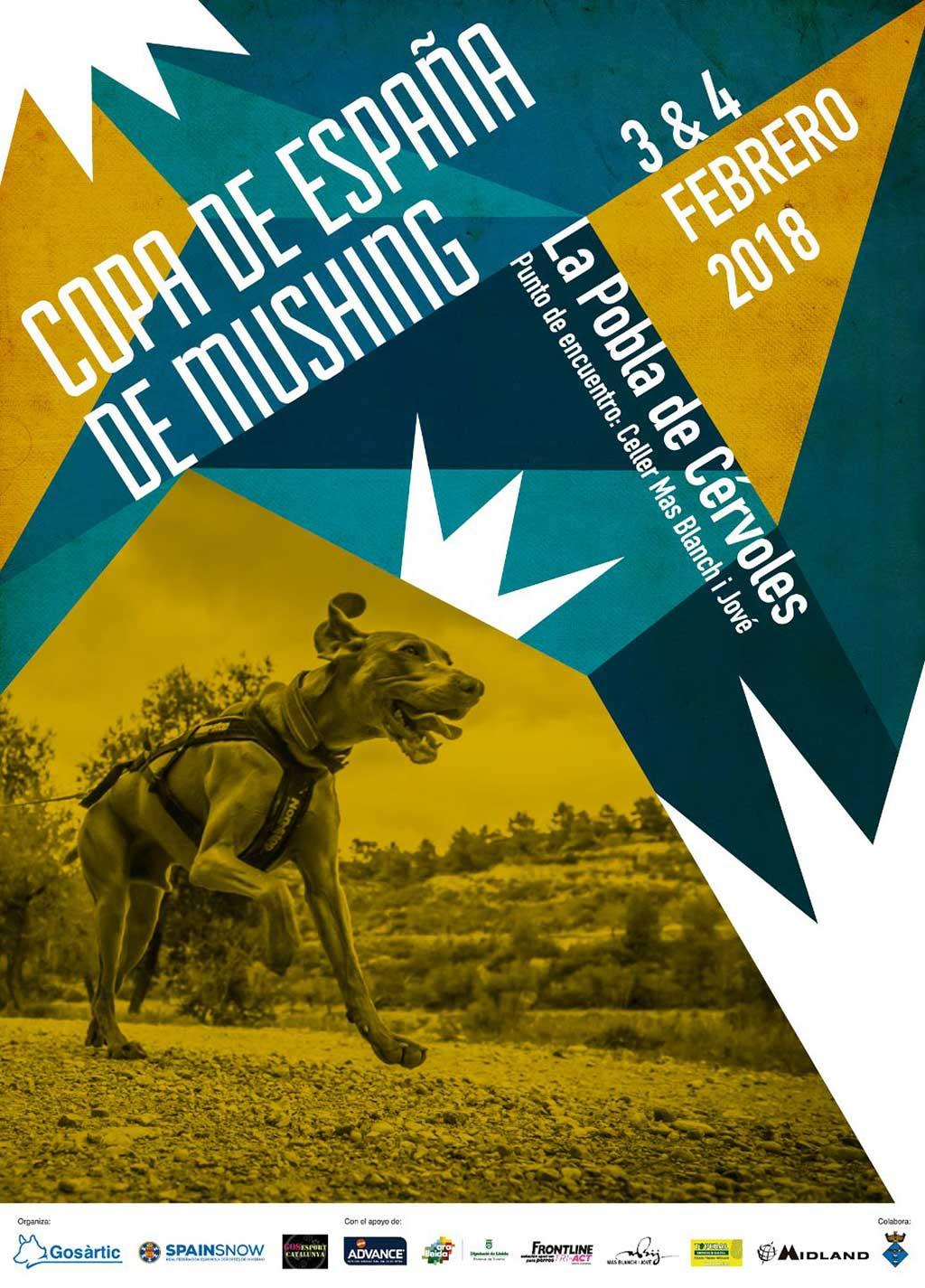La Copa de España de Mushing y Canicross llega a La Pobla de Cérvoles.
