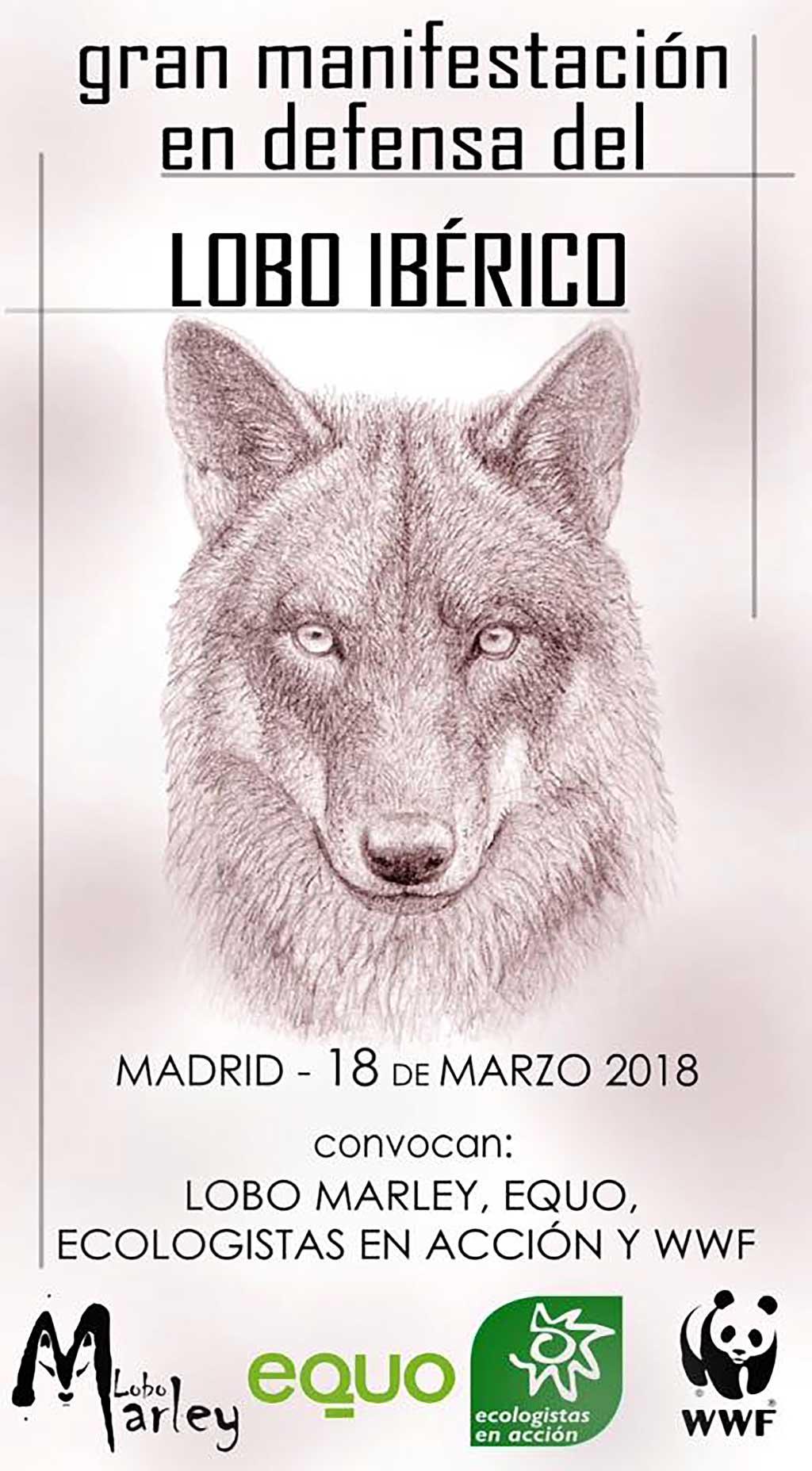 Manifestación en defensa del lobo ibérico en Madrid