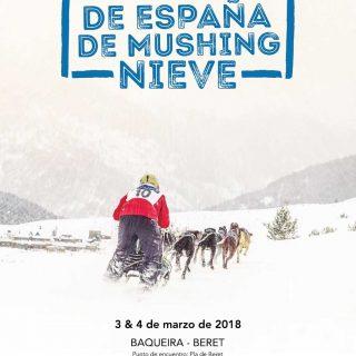 Campeonato de España de Mushing Nieve en Baqueira Beret.
