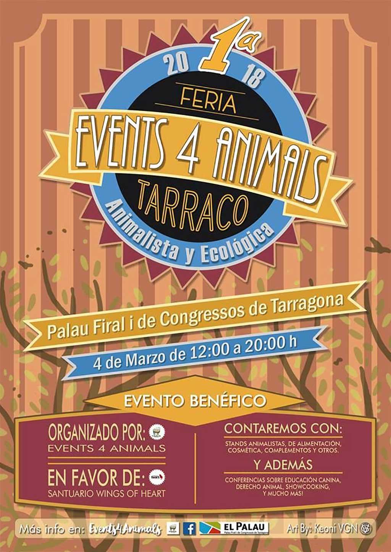 El próximo domingo 4 de marzo se va a celebrar la primera feria animalista y ecológica de la provincia de Tarragona.