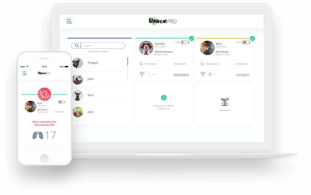 DinbeatPRO, arnés para monitorizar en remoto y tiempo real la salud de las mascotas