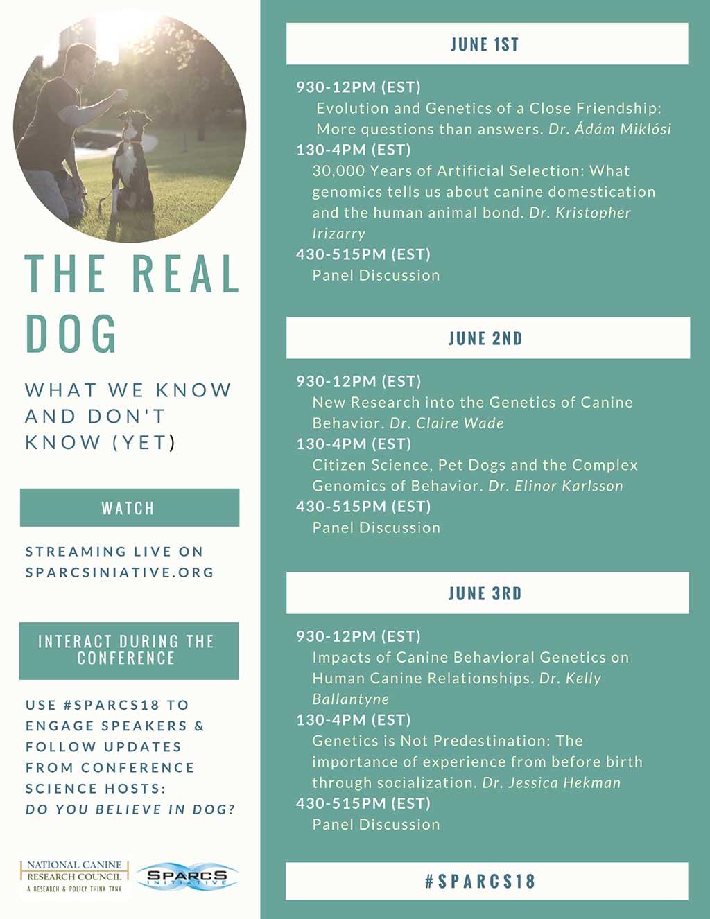SPARCS 2018. The Real Dog: Lo que sabemos y lo que no de los perros (todavía).