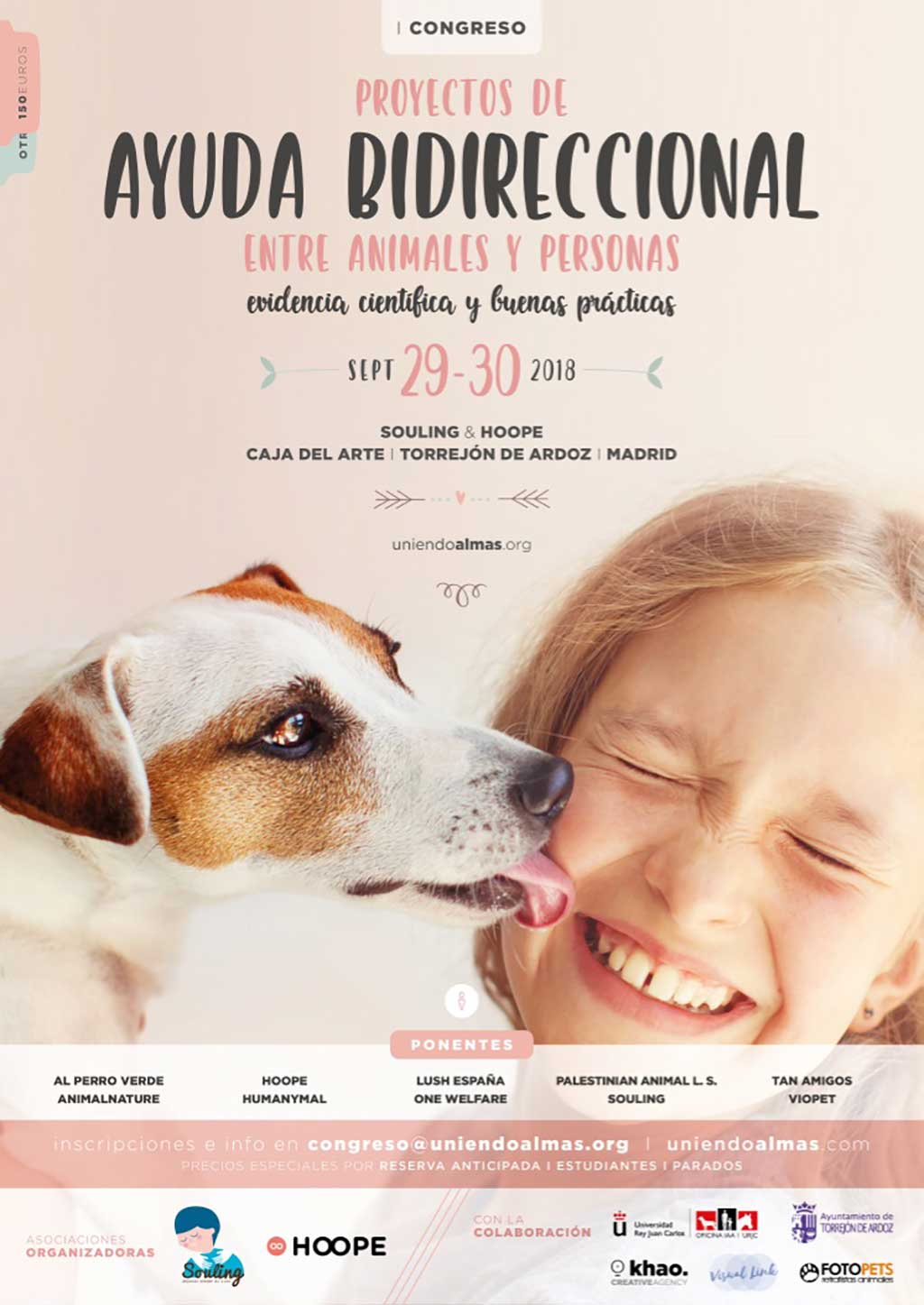 El 29 y 30 de Septiembre, el municipio madrileño de Torrejón de Ardoz acogerá el primer congreso de proyectos de ayuda bidireccional entre animales y personas.