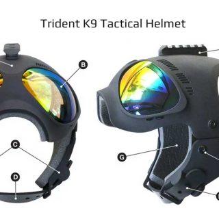 Trident K9 tactical helmet, protección para perros de trabajo