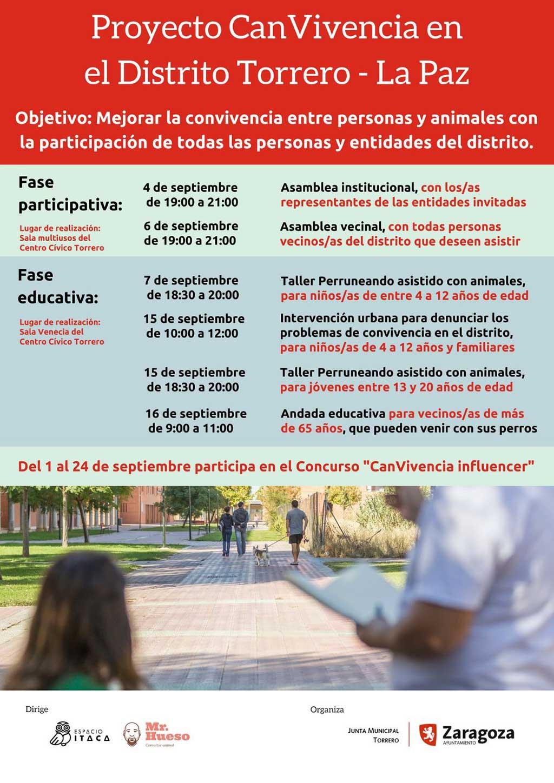 Proyecto CanVivencia en el Distrito Torrero–La Paz de Zaragoza, para la mejora de la convivencia entre personas y animales.
