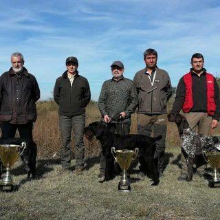 @RSociedadCanina Vencedores de la Copa de España de Campo y Agua, braco alemán, que se ha celebrado en Pina de Ebro (Zaragoza)..