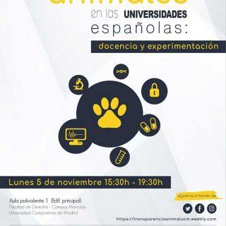 Situación de los animales en la universidades españolas (Transparencia Animal UCM).