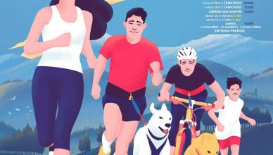 """""""San Silvestre Villa de Rascafría"""". Un corredor, un euro solidario Perrikus Canicross–Bikejoring-Running."""