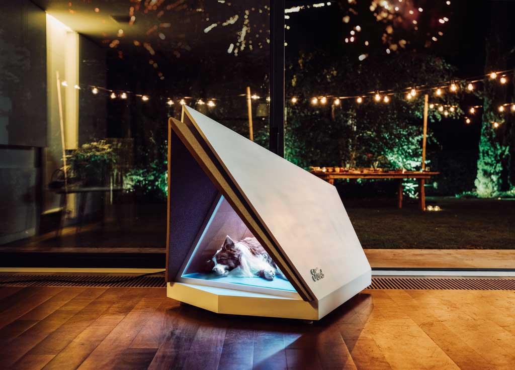 ¿Una caseta para perros con cancelación de sonido? Un innovador concept utiliza tecnología Ford para crear un espacio silencioso para perros estresados Nochevieja..